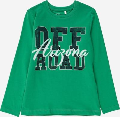 Tricou NAME IT pe verde / verde închis / alb, Vizualizare produs