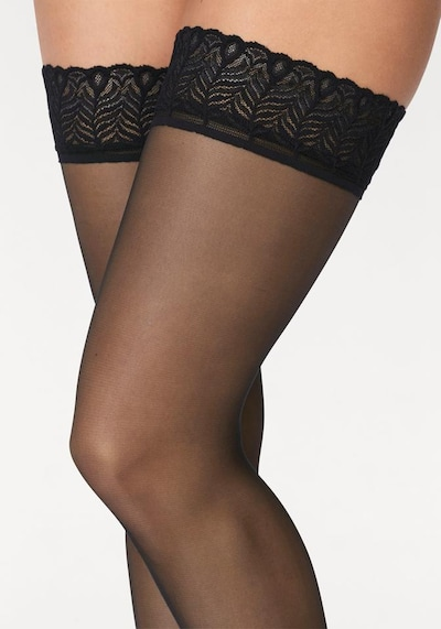 LASCANA Чорапи с жартиери в черно, Преглед на продукта