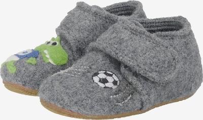 Living Kitzbühel Hausschuhe 'Fussballkrokodil' in grau, Produktansicht