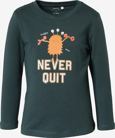 NAME IT Shirt in smaragd / orange / koralle / weiß: Frontalansicht