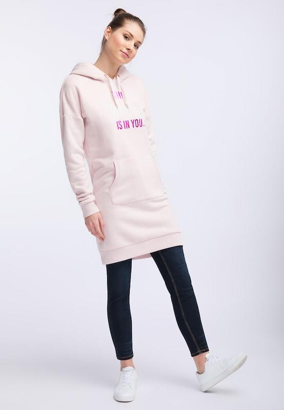 MYMO Sweatshirtkleid in Rosa     dunkelRosa   silber  Neu in diesem Quartal da14c1