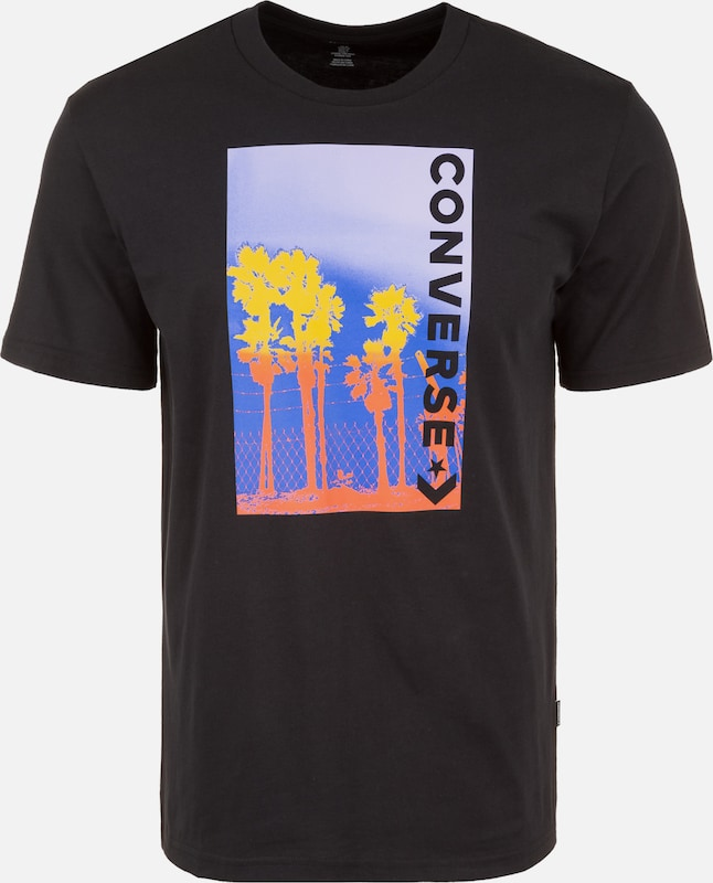 CONVERSE Palm Tree Photo T-Shirt in schwarz: Frontalansicht