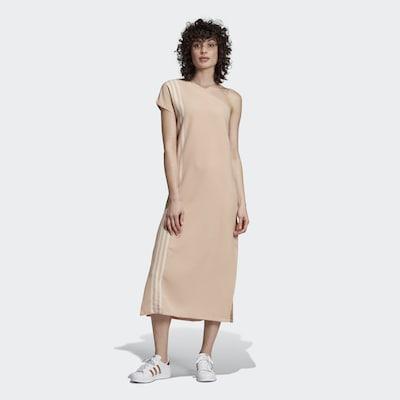 ADIDAS ORIGINALS Kleid in beige / weiß, Modelansicht