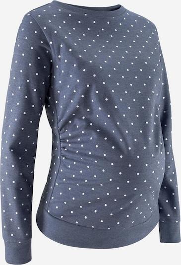 Neun Monate Umstandssweatshirt in taubenblau, Produktansicht