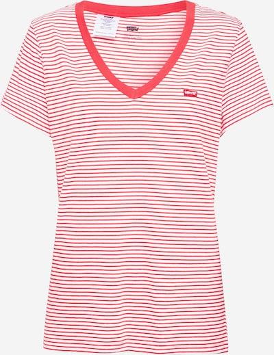 LEVI'S T-Shirt 'PERFECT VNECK' in rot / weiß, Produktansicht