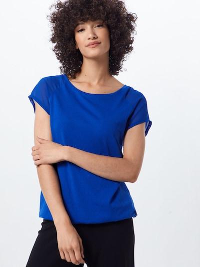 Q/S designed by Shirt in de kleur Royal blue/koningsblauw: Vooraanzicht
