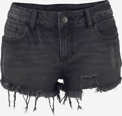 BUFFALO Hotpants in black denim, Produktansicht