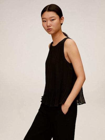 MANGO Bluse 'MAURO2' in schwarz, Modelansicht