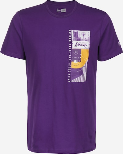 NEW ERA T-Shirt ' NBA Photo Print Los Angeles Lakers ' in gelb / lila / weiß, Produktansicht