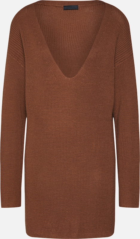 2NDDAY Pull-over '2nd Gloria' en marron, Vue avec produit