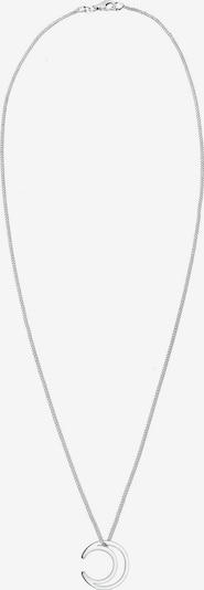 ELLI Ketting 'Astro, Halbmond' in de kleur Zilver: Vooraanzicht