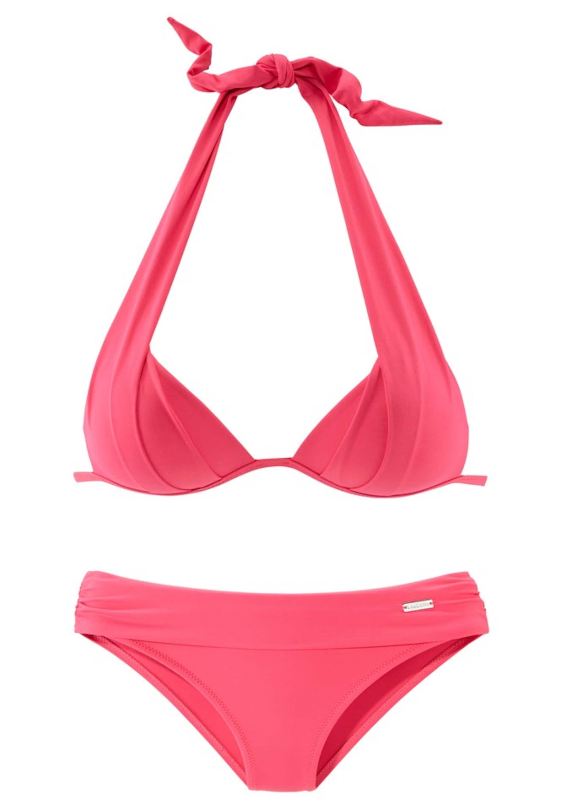 bikini Lascana bikini Triangel Neonpink Lascana Triangel In PkwO08n