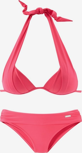 LASCANA Triangel-Bikini in neonpink, Produktansicht