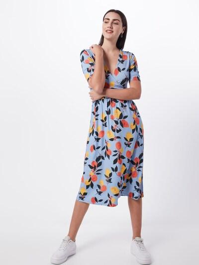 modström Kleid 'Calia' in blau / gelb / orange, Modelansicht