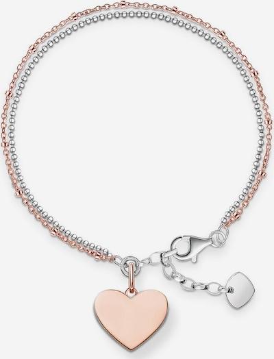 Thomas Sabo Armband 'Herz, LBA0102-415-12-L19,5v' in rosegold / silber, Produktansicht
