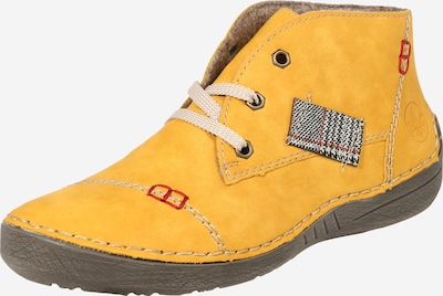 RIEKER Chaussure à lacets en jaune / rouge / noir, Vue avec produit