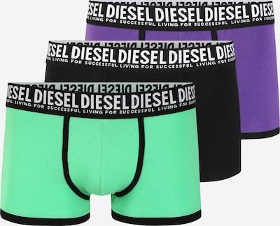 DIESEL Boxershorts 'Damien' in grün / lila / schwarz, Produktansicht
