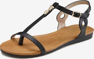 LASCANA Sandale in Schwarz