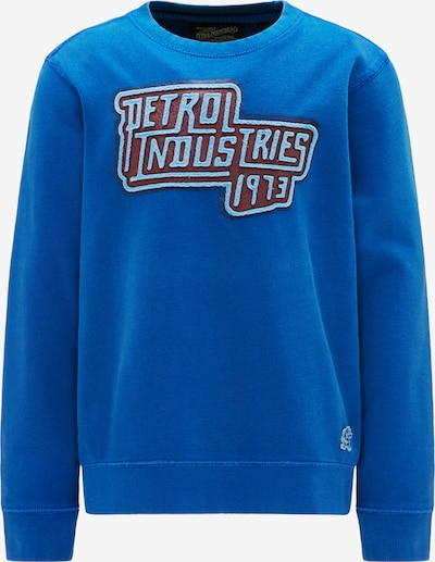 Petrol Industries Sweater in blau / kirschrot, Produktansicht