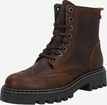 BULLBOXER Lace-Up Ankle Boots in Brown