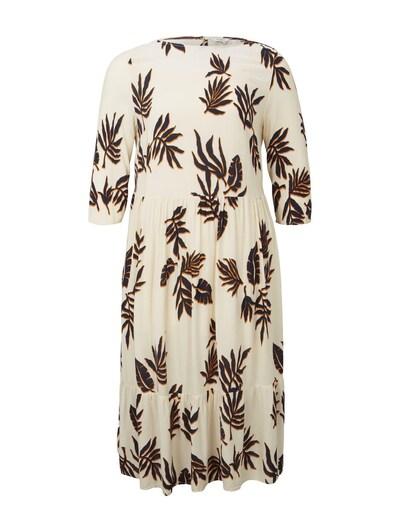 MY TRUE ME Maxi-Kleid in beige / orange / schwarz, Produktansicht