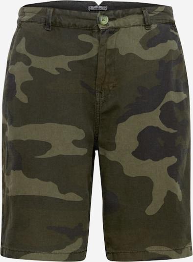 LTB Shorts 'NARIZO' in braun / dunkelgrün, Produktansicht