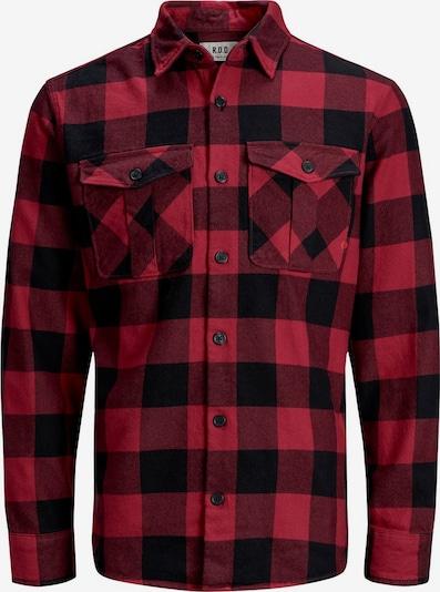 JACK & JONES Overhemd 'Banes RDD' in de kleur Rood / Rood gemêleerd / Zwart, Productweergave