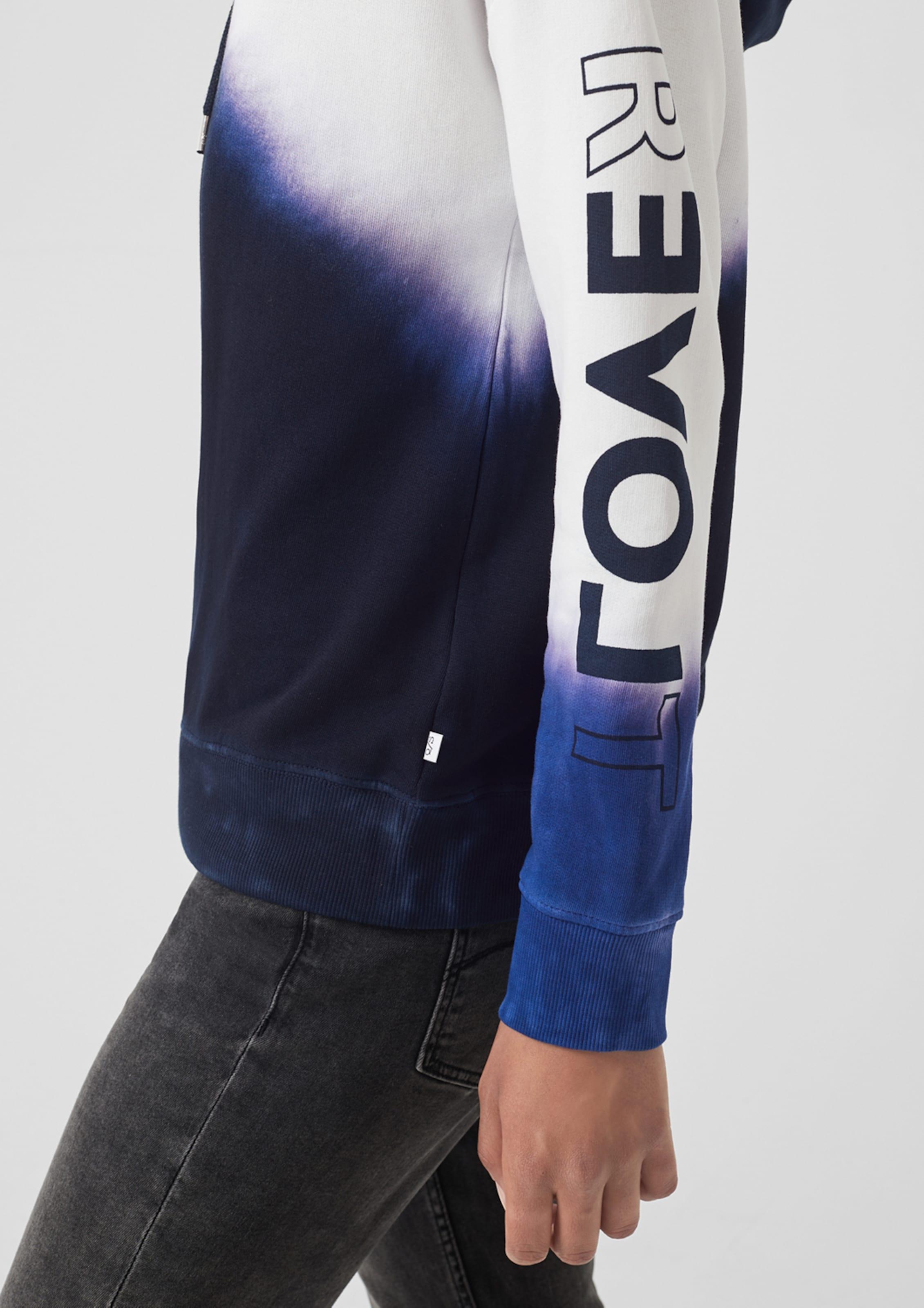 Tie By Designed DunkelblauNeonpink s Dye Weiß hoodie In Q qzpMVSU