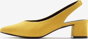 LASCANA Slingpumps i gul