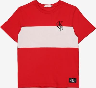 Calvin Klein Jeans T-Shirt en rouge / blanc, Vue avec produit