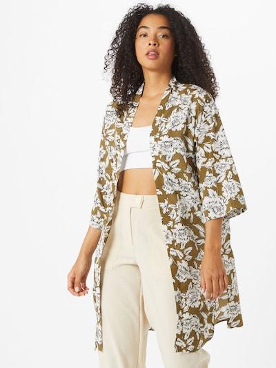 NEW LOOK Kimono 'DANA' in oliv / weiß: Frontalansicht