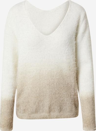 VILA Pullover in beige / weiß, Produktansicht