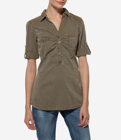 Soccx Bluse in khaki, Modelansicht