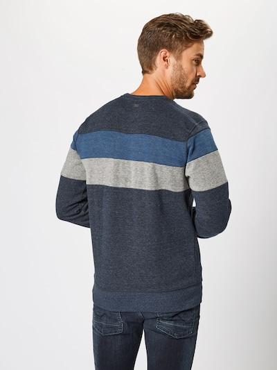 Petrol Industries Sweatshirt in de kleur Navy / Duifblauw / Grijs: Achteraanzicht