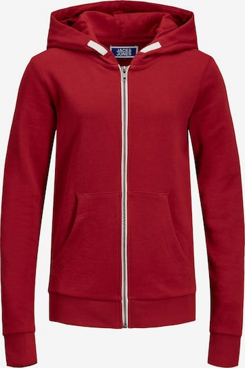 Jack & Jones Junior Sweatjacke in rot, Produktansicht