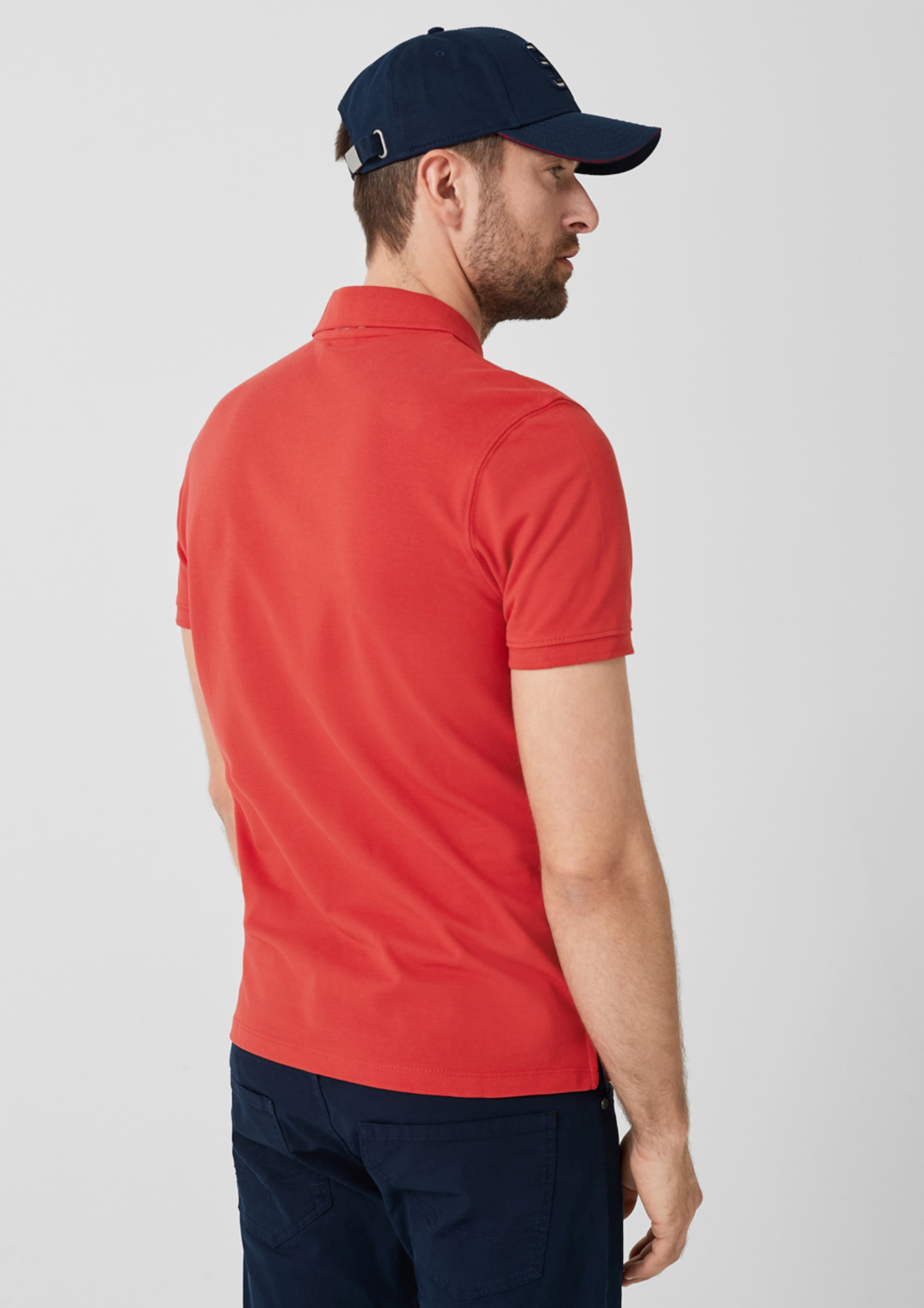 Rot oliver Label In S Red Poloshirt hdtsCQrxB