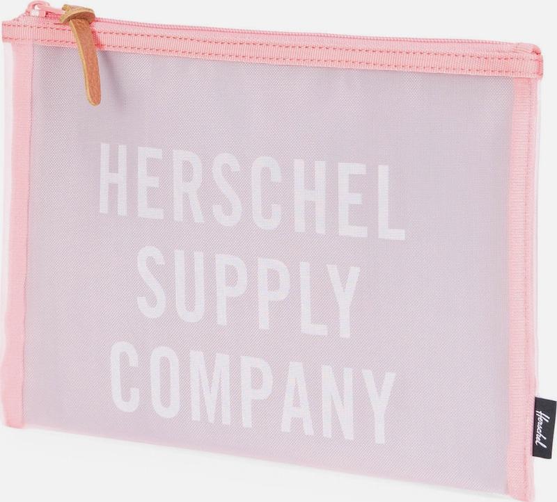 Herschel Tasche mit Reißverschluss 'Network Pouch Large, Strawberry'
