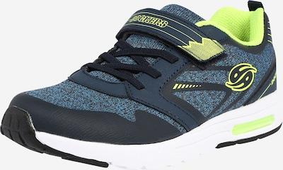 Dockers by Gerli Sneaker in blau / neongelb / schwarz, Produktansicht