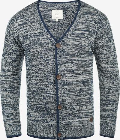 Redefined Rebel Cardigan 'Miles' in blau / weiß, Produktansicht