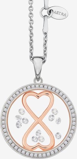 Astra Kette mit Anhänger 'INFINITY HEART' in pink / silber, Produktansicht