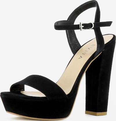 EVITA Damen Sandalette in schwarz: Frontalansicht