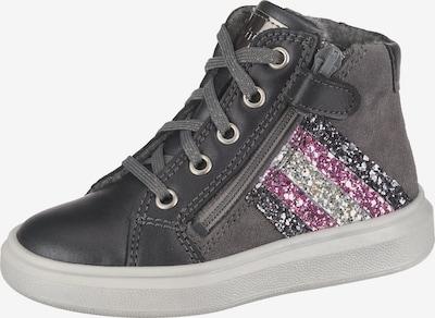RICHTER Sneakers High in dunkelgrau / pink / silber, Produktansicht