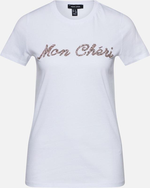 Look New shirt T En ArgentBlanc b67gyYf