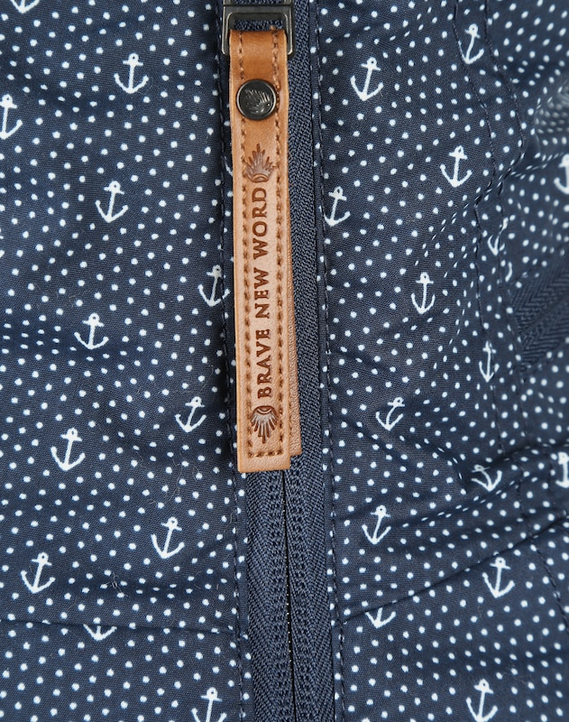 naketano jacke blau gepunktet damen hell