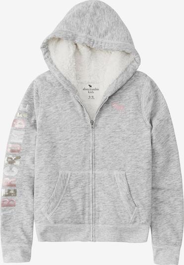Abercrombie & Fitch Veste de survêtement en gris clair, Vue avec produit