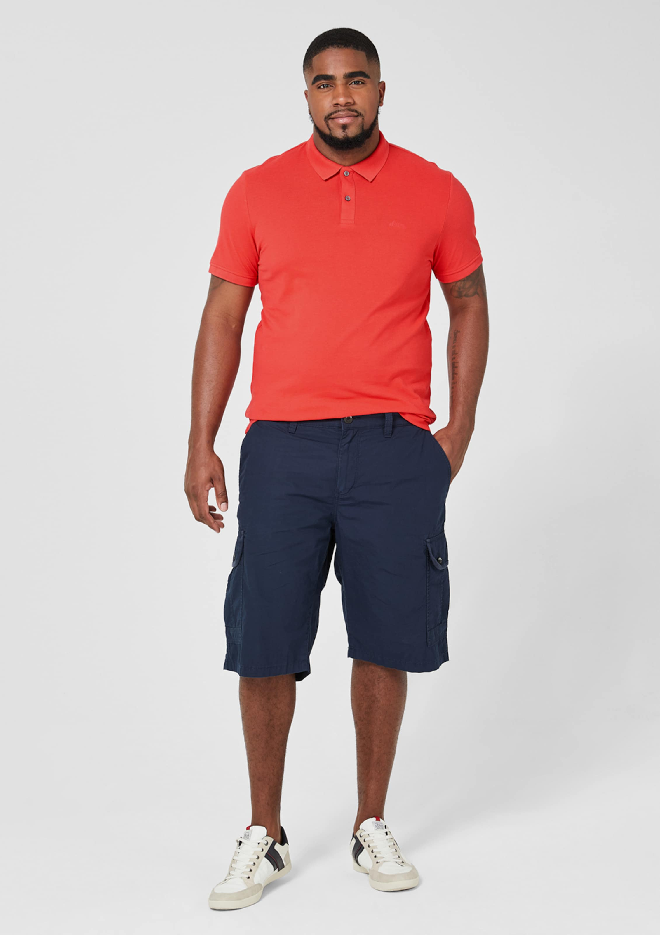 S oliver Label Red Poloshirt In Rot 76fgYby