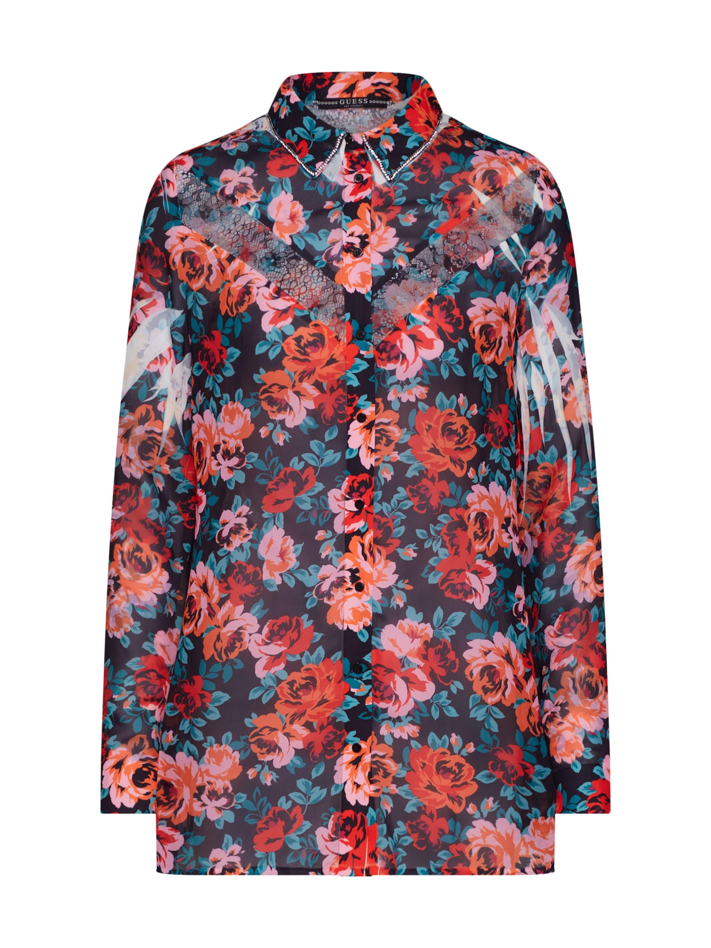 Guess In RosaSchwarz Clouis Shirt' Bluse 'ls yv7Y6bgf