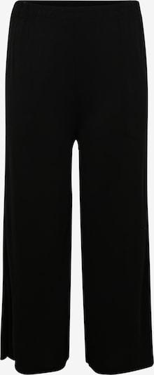 Urban Classics Curvy Kalhoty 'Ladies Modal Culotte' - černá: Pohled zepředu