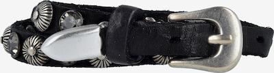 Campomaggi Bracciali Armband Leder 44 cm in schwarz / silber, Produktansicht