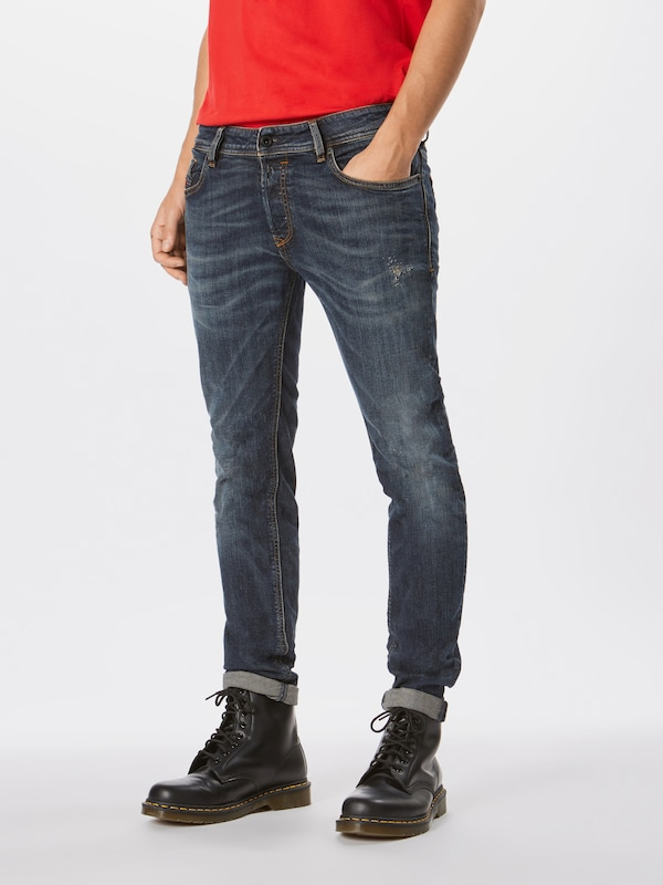 DIESEL Jeans 'Sleenker' in blue denim, Modelansicht